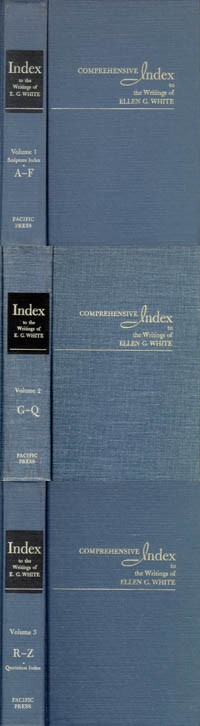Comprehensive Index to the Writings of Ellen G. White (Set of 3)
