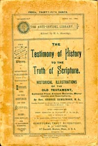 Testimony of History to the Truth of Scripture, The
