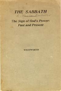 Sabbath--Sign of God's Power: Past and Present, The --S