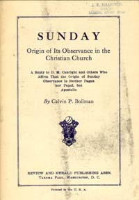 Sunday - Origin of Its Observance in Christian Church -S